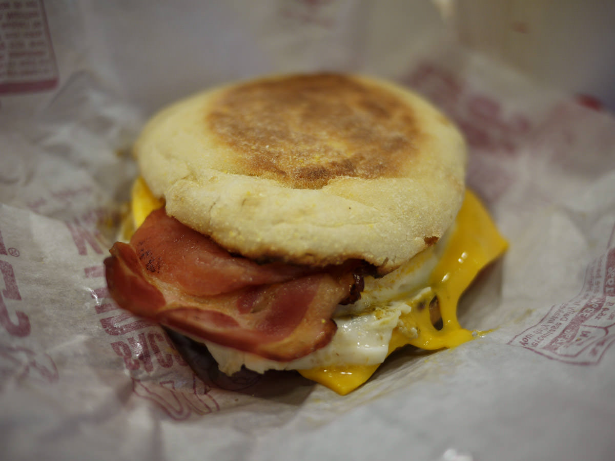Bacon and egg McMuffin