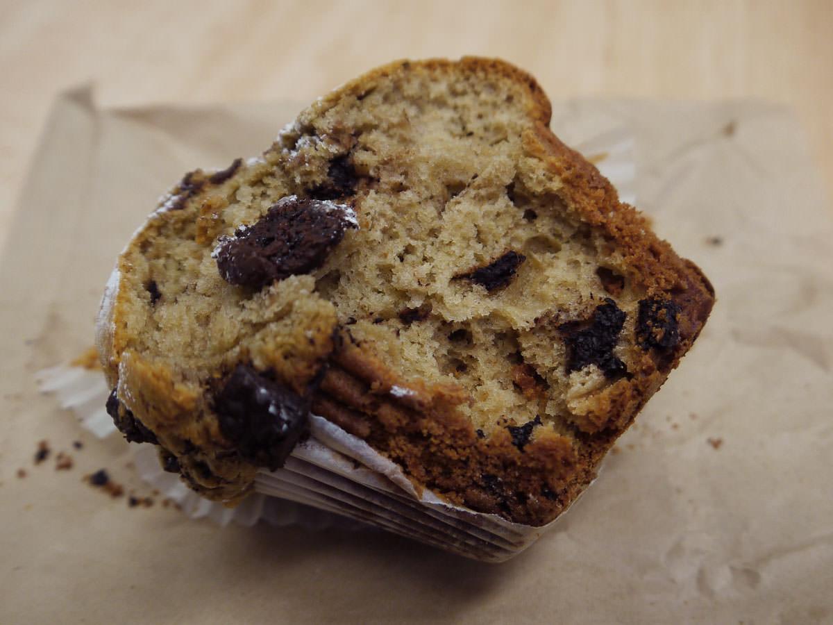 Black forest muffin innards