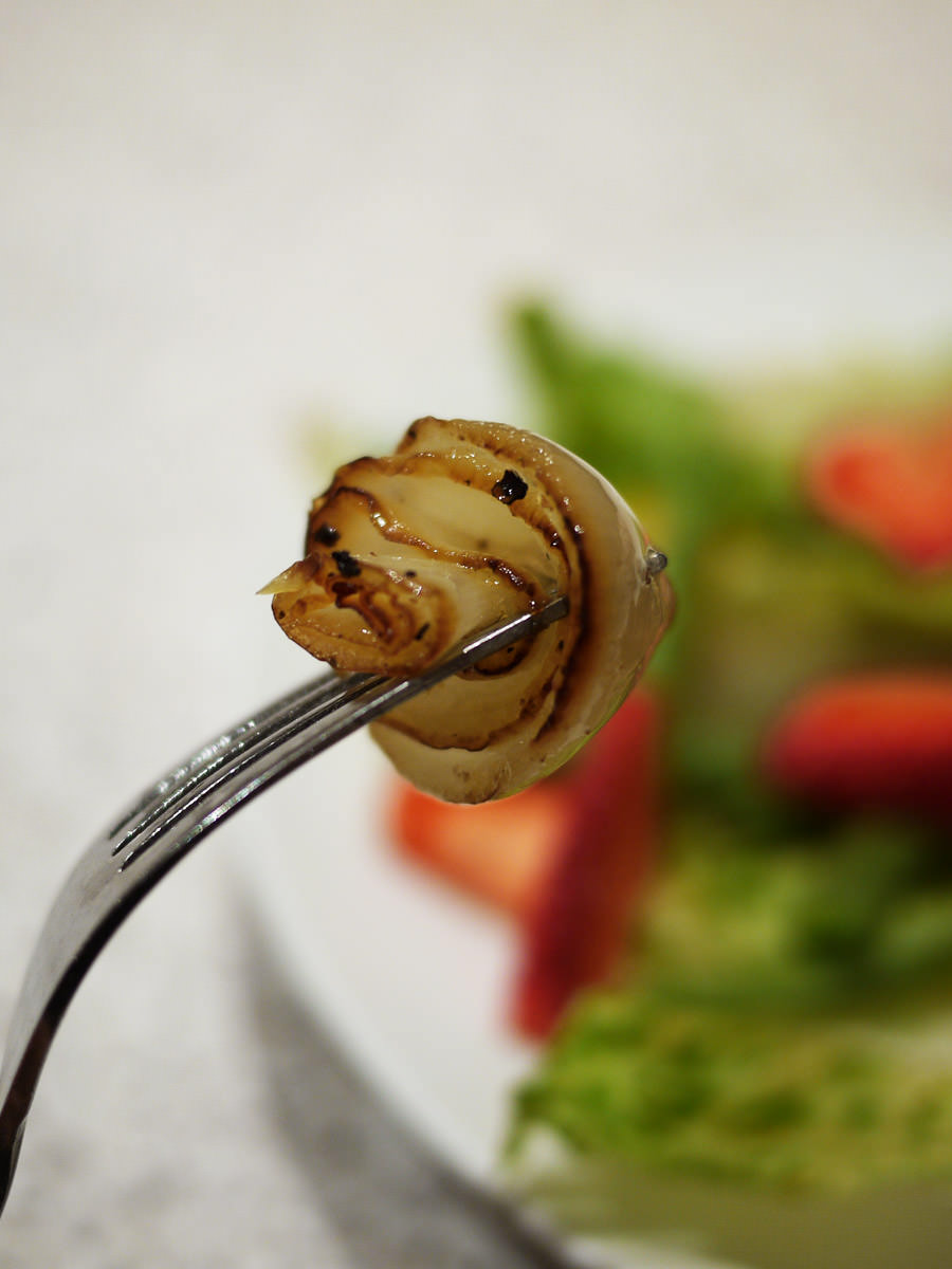 The sweet centre of a grilled onion