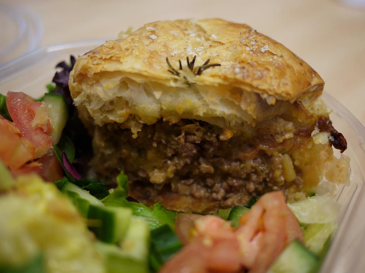 Lamb and rosemary pie innards