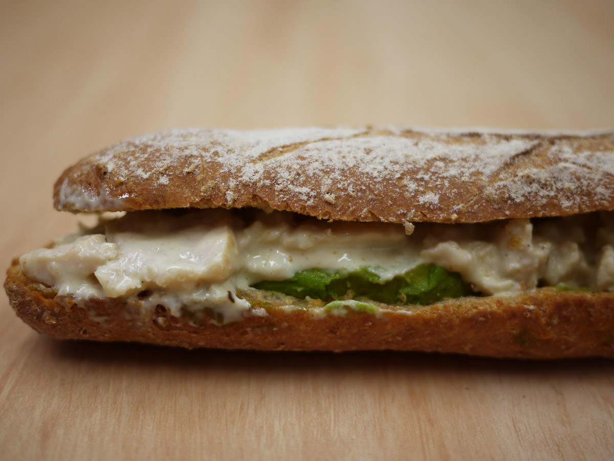 Chicken and avocado flute from Jean Claude Patisserie
