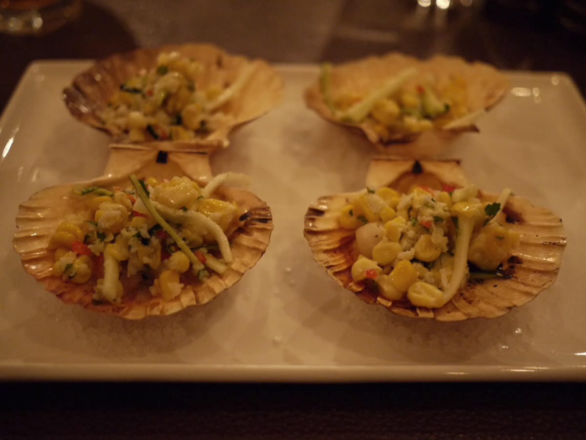 Wood roasted Fraser Island scallops - four scallops in a serve for one