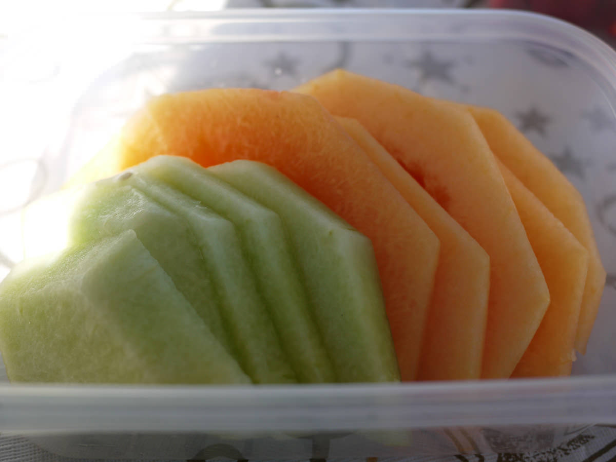 Honeydew melon and rockmelon