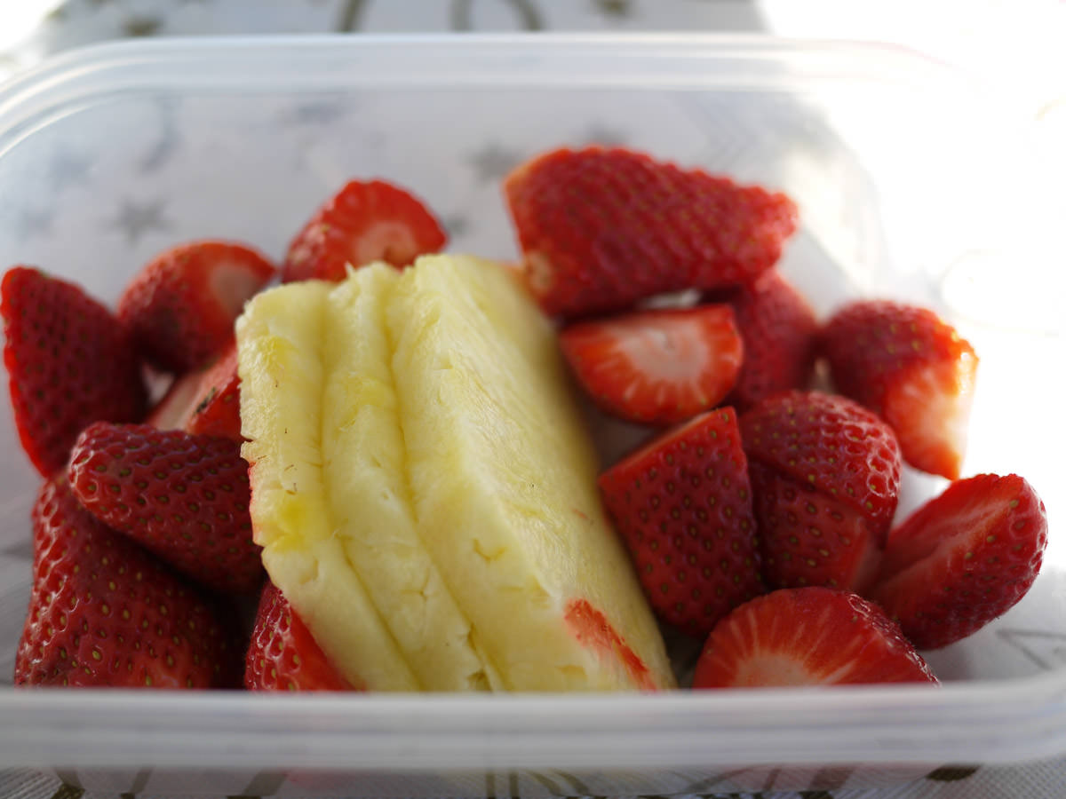 Strawberries and pineapple