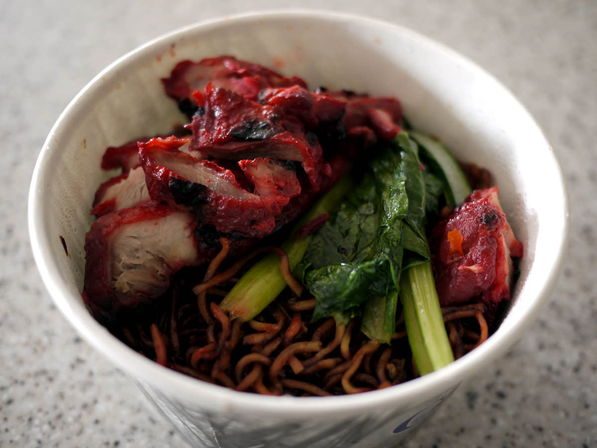 Chicken (done char siu style) and noodles from Chilliz