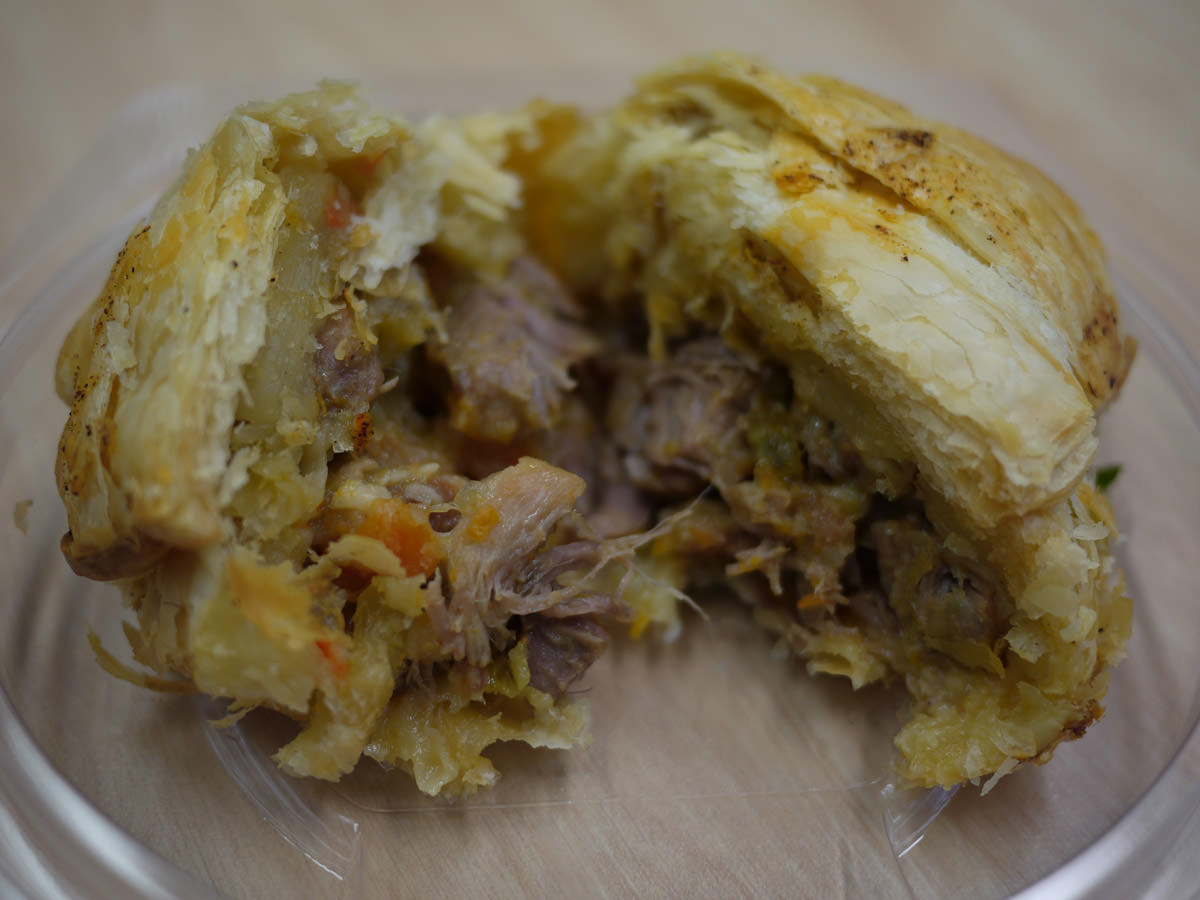 Braised pork with apple pie - innards