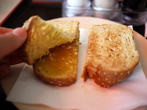Kaya toast innards - butter and kaya