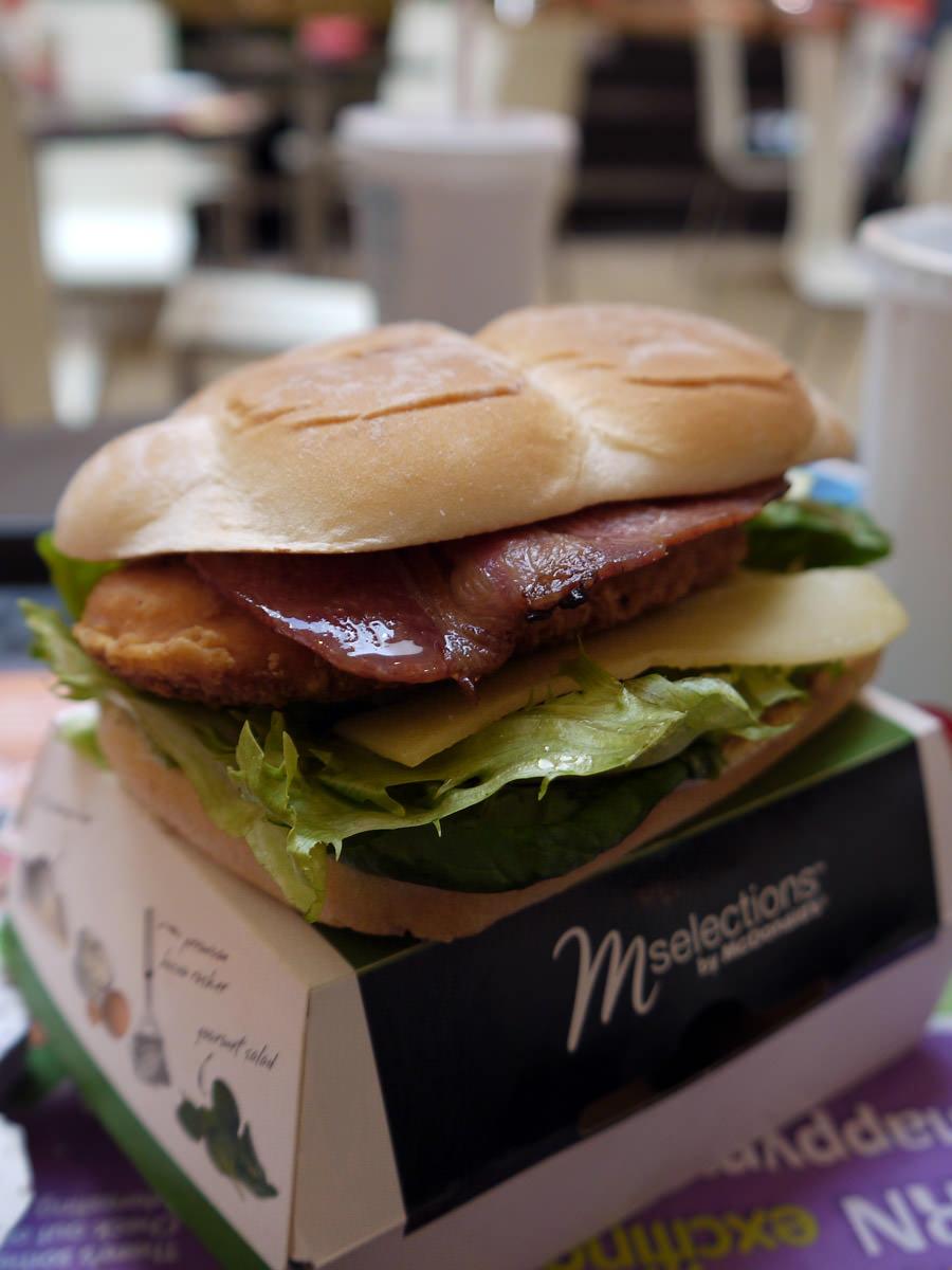 Crispy chicken deluxe burger