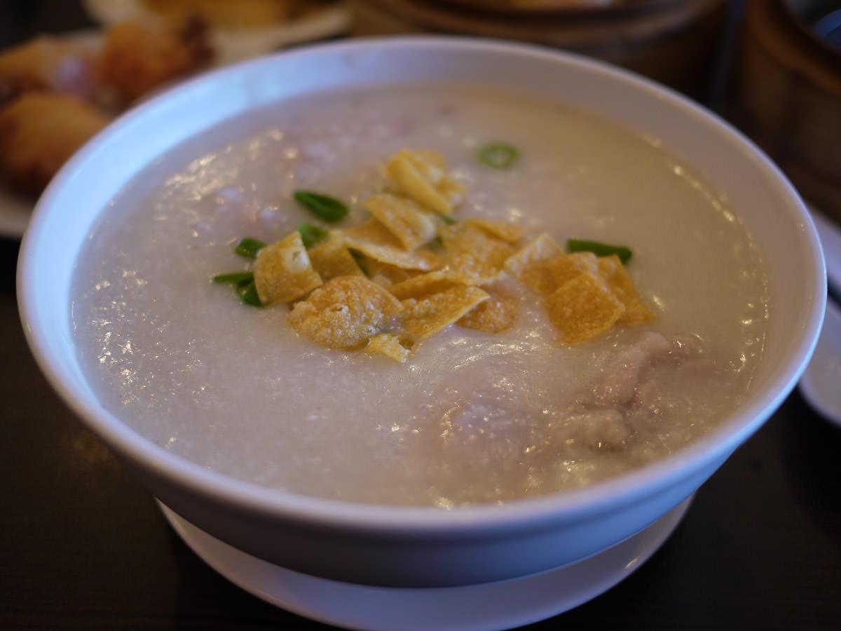 Chicken porridge (best dish of the meal)