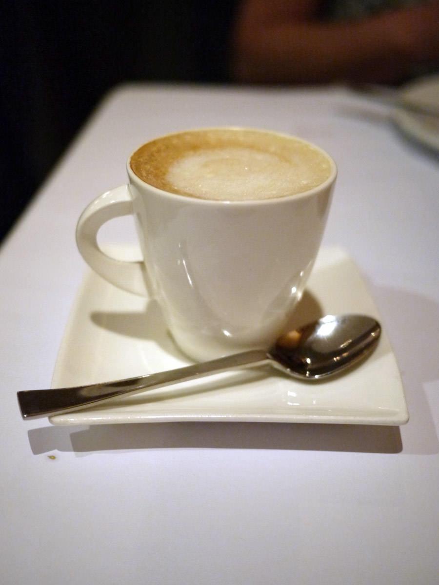 Soy flat white coffee