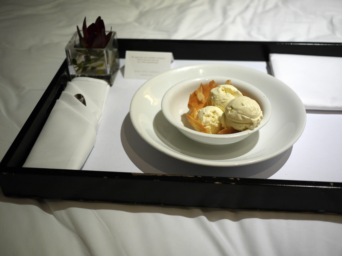 Room service vanilla bean ice cream