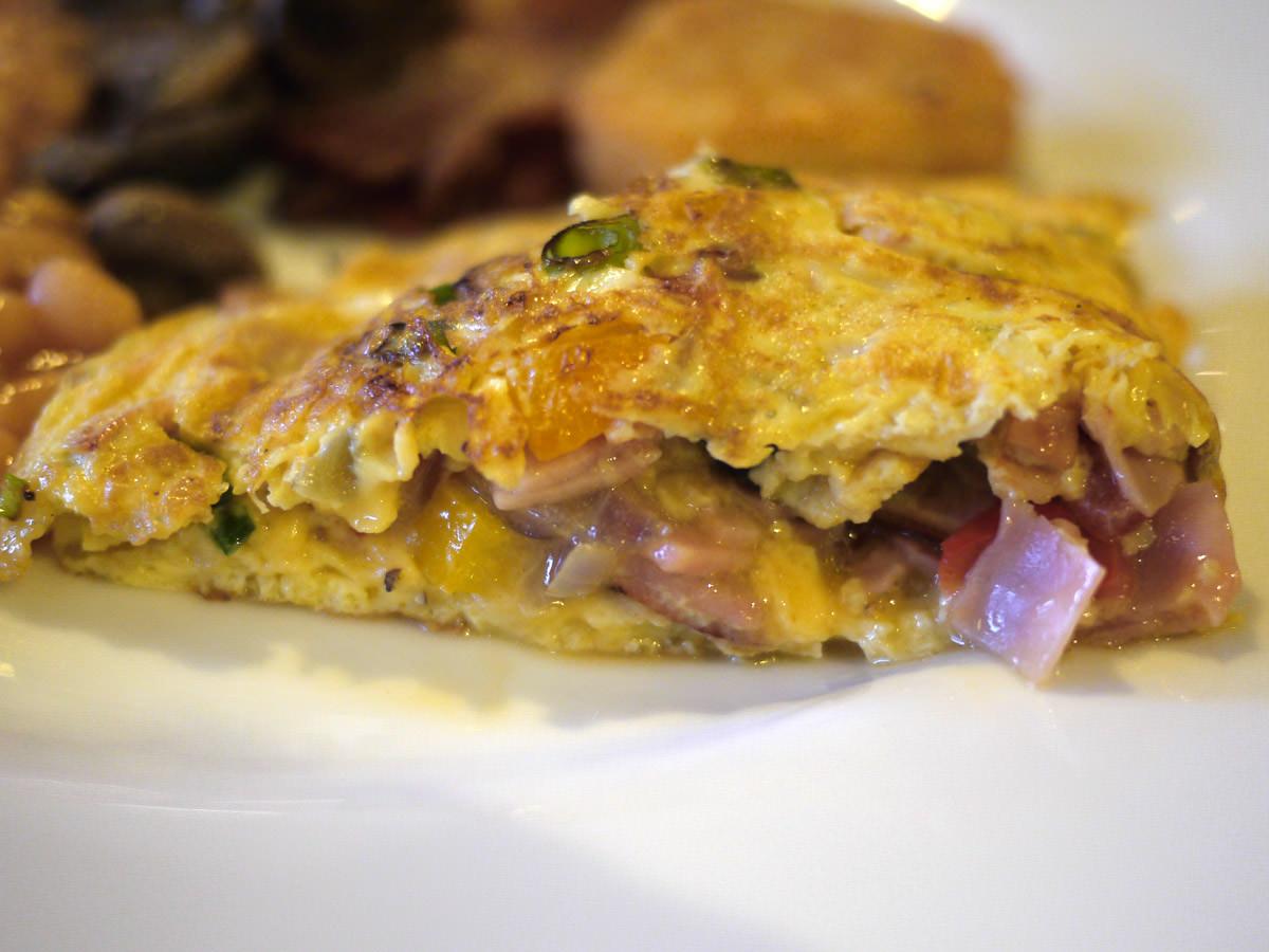 Omelette innards