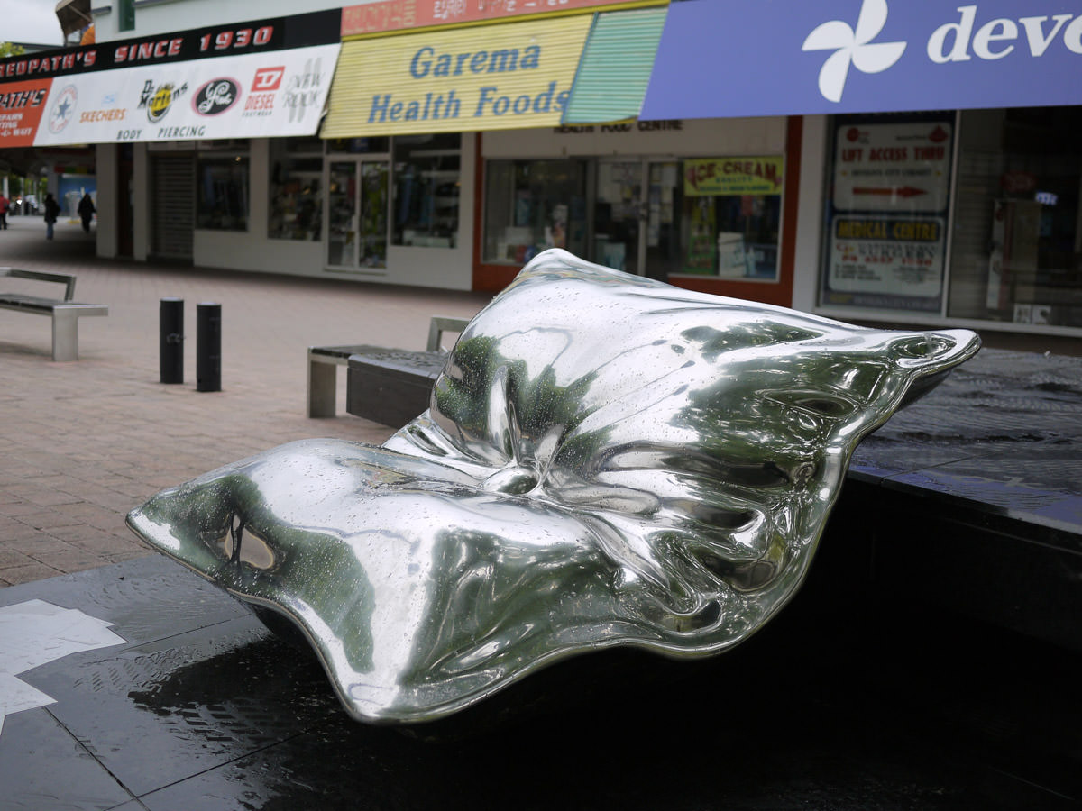 Big cushion sculpture - our cats would totally sleep on that