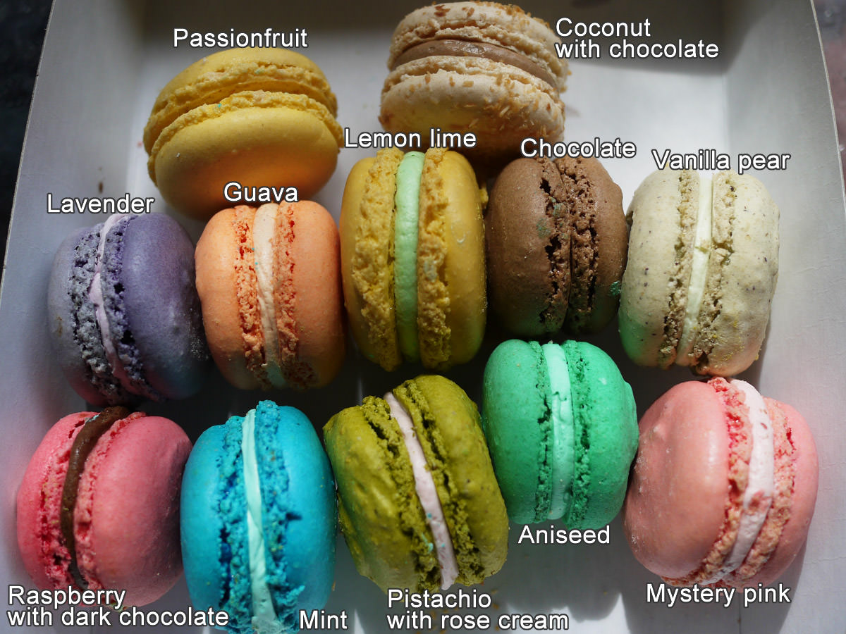 Macarons, La Galette de France, Subiaco - including flavours
