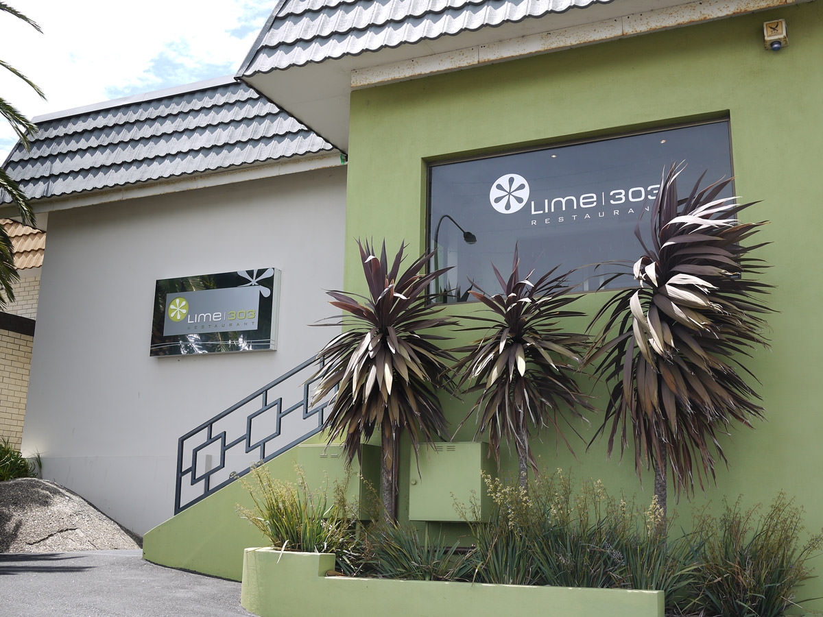 Lime 303 restaurant - front. If you stay at Dog Rock Motel, you can access the restaurant via the back entranc