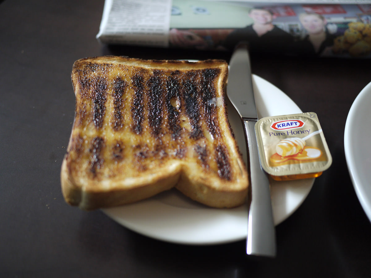 Buttered toast and honey