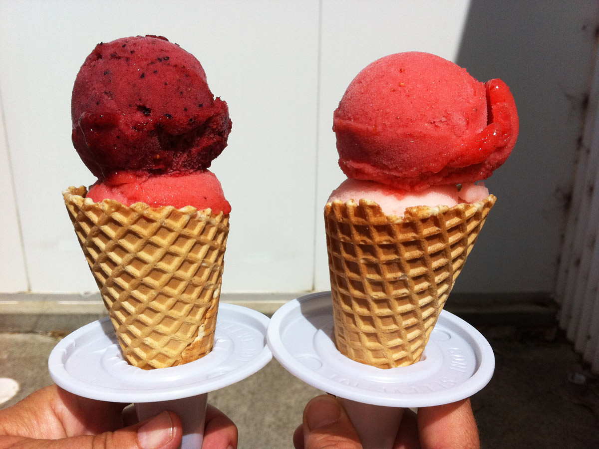 Strawberry sorbets from Freshpict Strawberry Farm