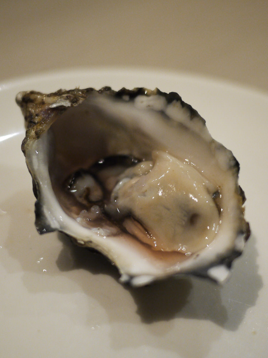 Oyster natural with red wine vinaigrette