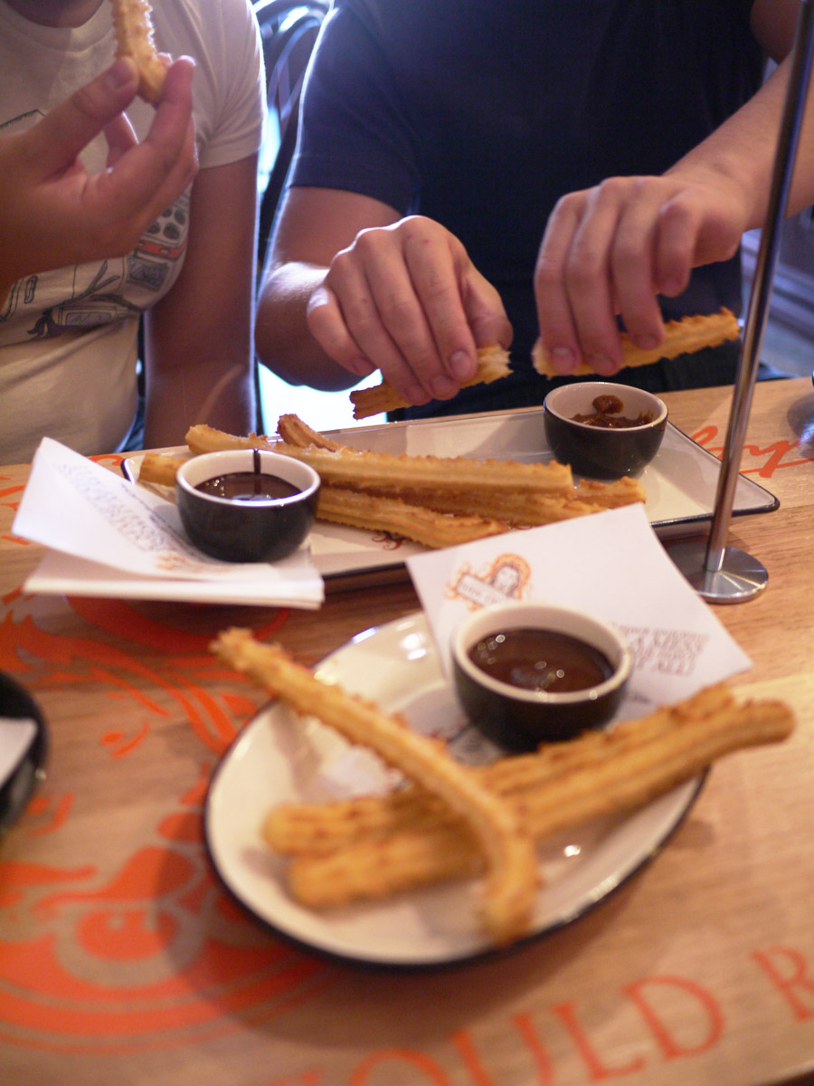 Eating churros