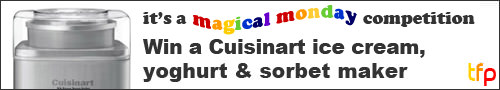 Competition banner - win a Cuisinart ice cream, yoghurt & sorbet maker from KitchenwareDirect