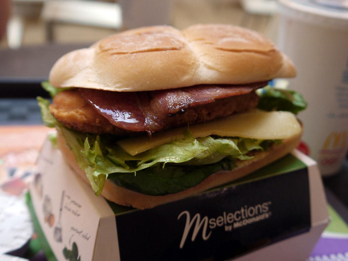 McDonald's Chicken Deluxe burger (crispy)