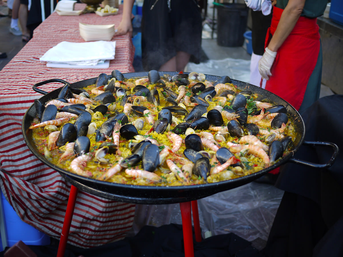 Paella is almost ready