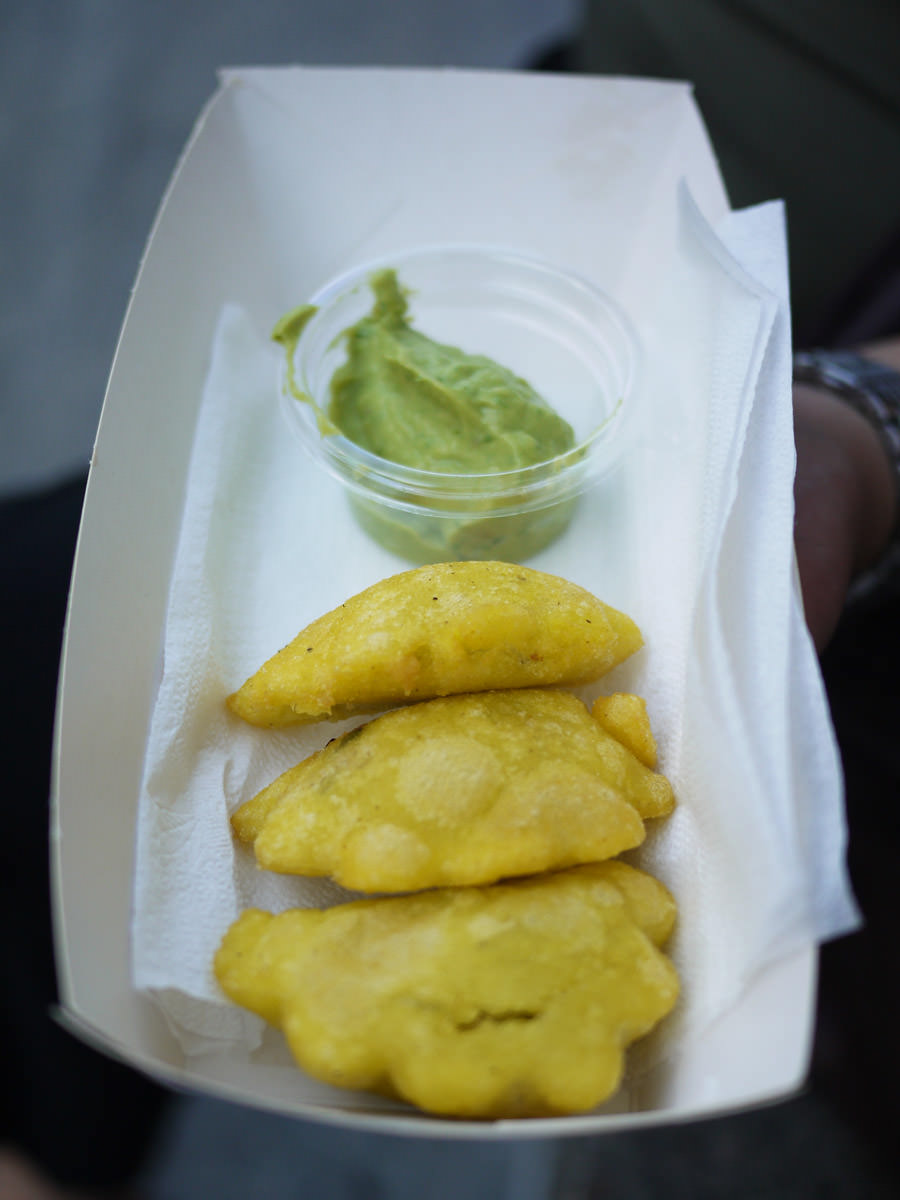 Marcelita's pork and lime empanadas with fresh guacamole