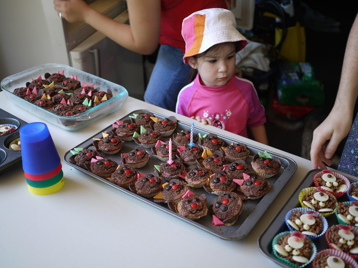 Ruby among the cupcakes and crackles