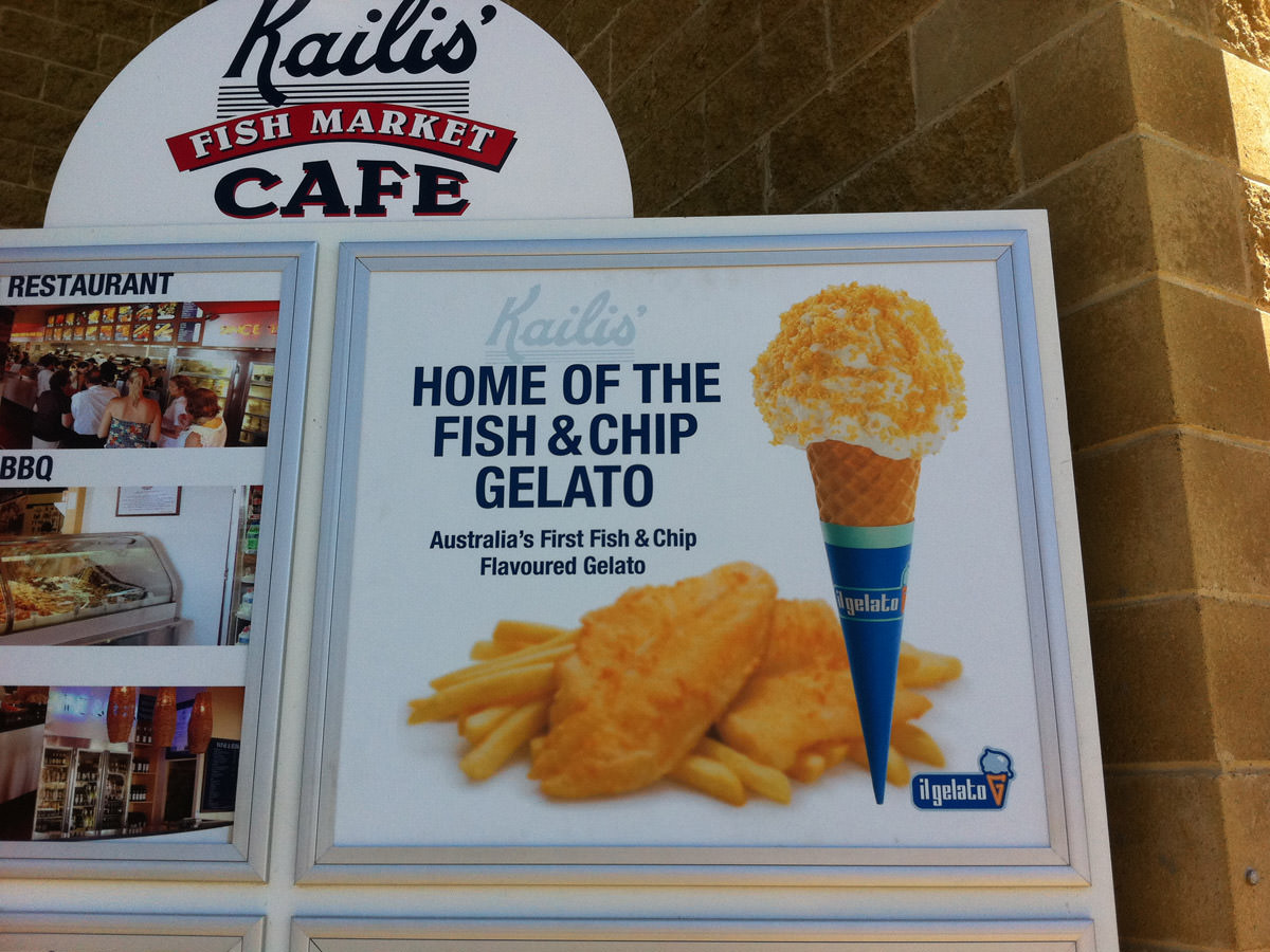 Kailis Fish Market Cafe, Fremantle - Home of the fish and chip gelato