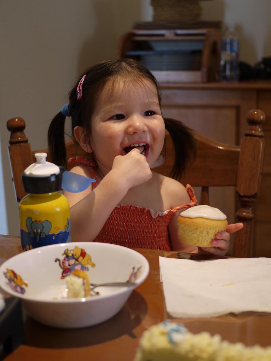 Zoe's Happy Cupcake face