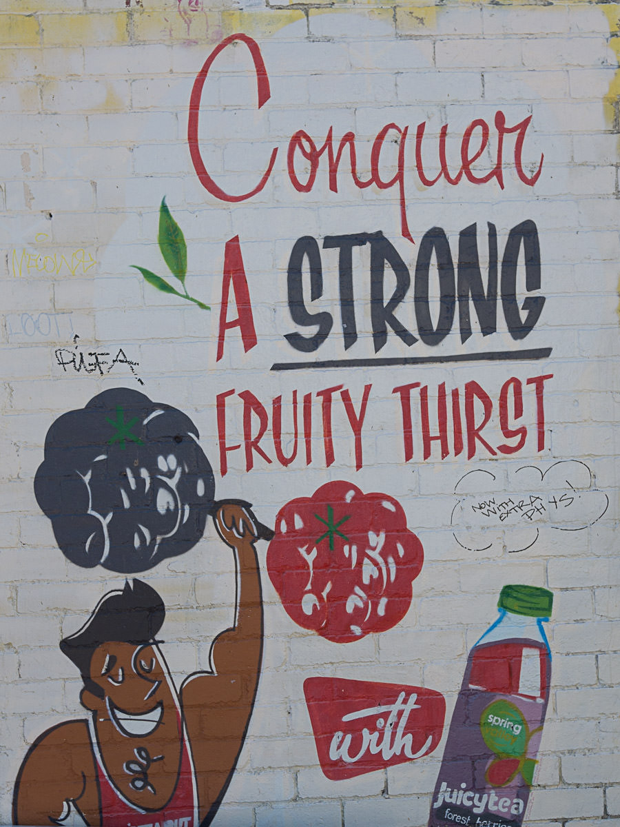 Wall painting: Conquer a strong fruity thirst