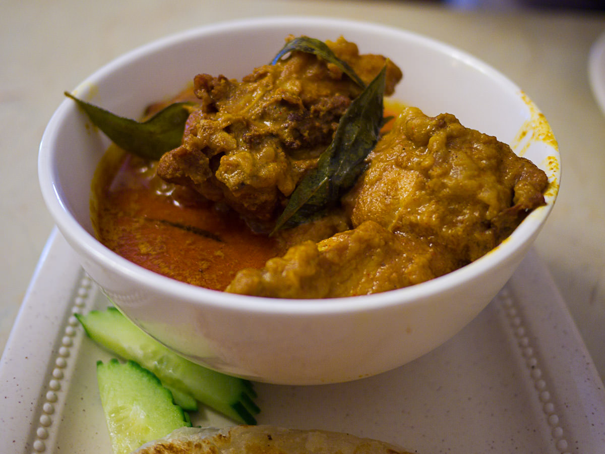 Chicken curry close-up