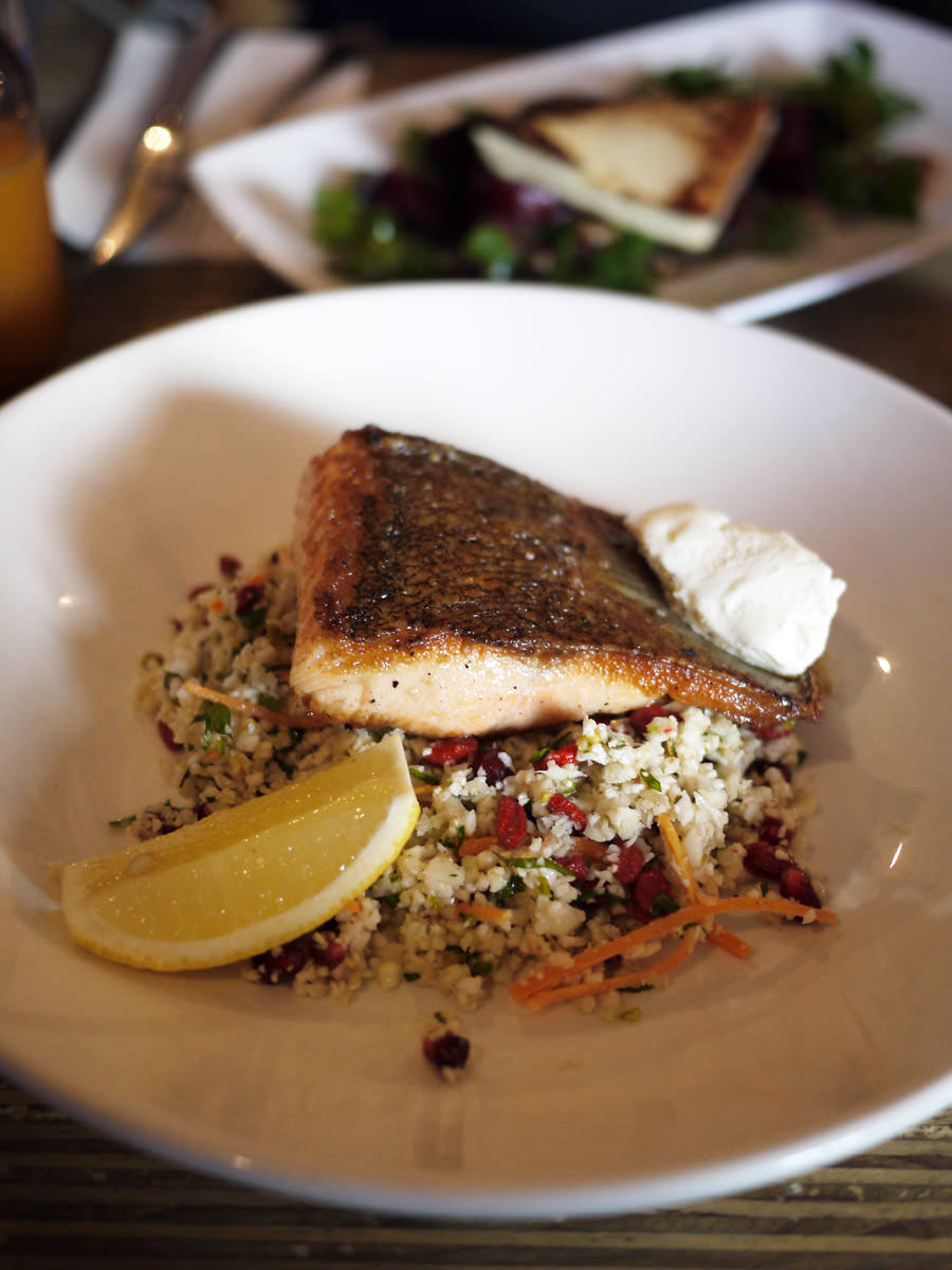 Ocean trout with jewelled cauliflower cous cous, lemon (AU$23)