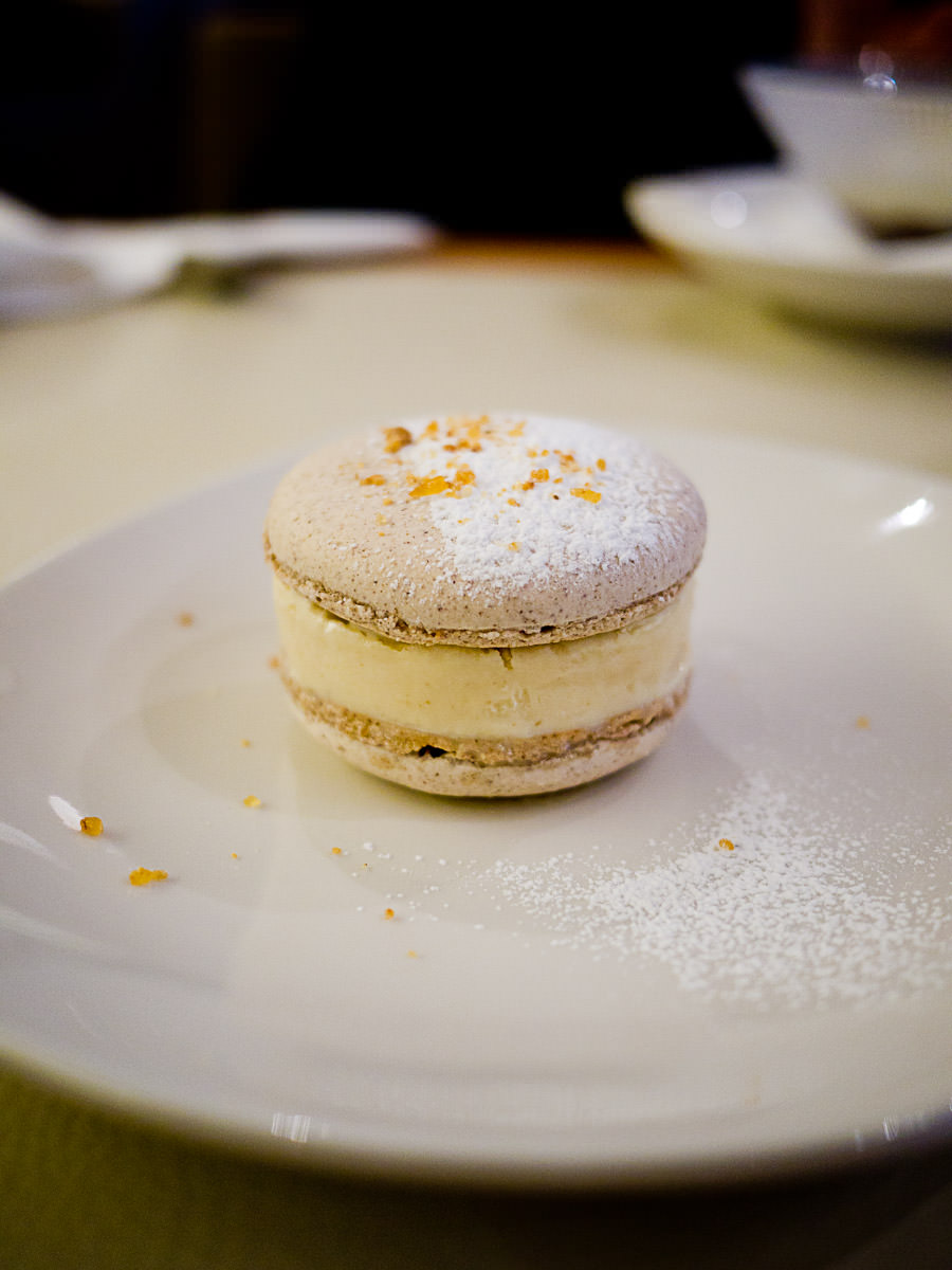 Hazelnut macaron and banana ice cream sandwich (AU$14)