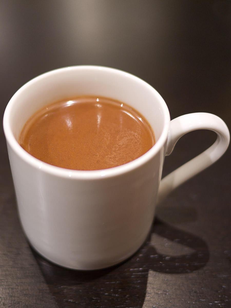 Mini cup of Belgian hot chocolate