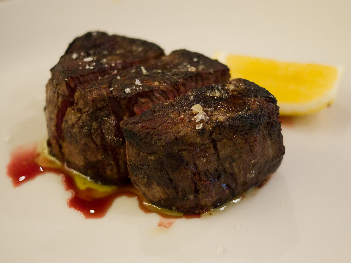 Cape Grim dry aged 36-month old grass fed fillet steak (250g, AU$55)
