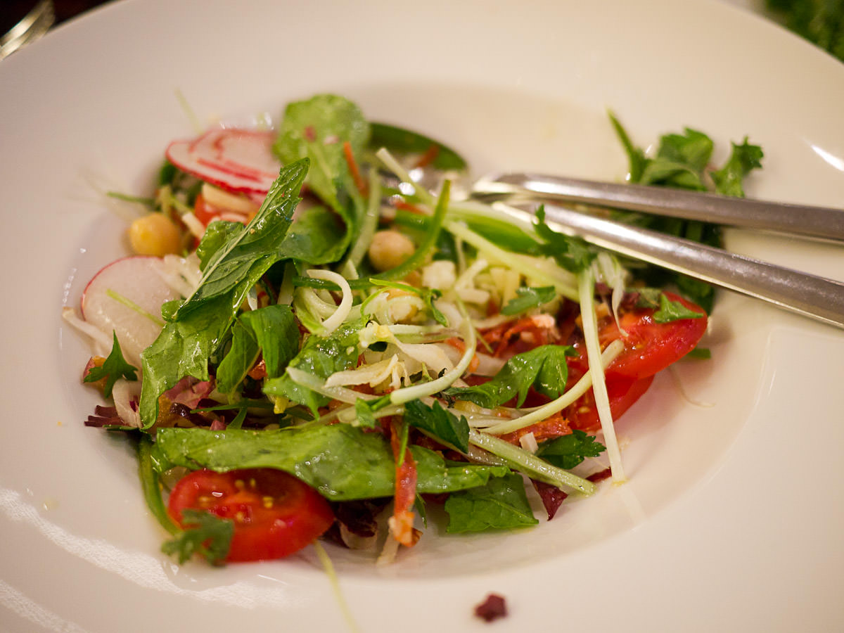 House chopped salad, dressed table-side (AU$24)