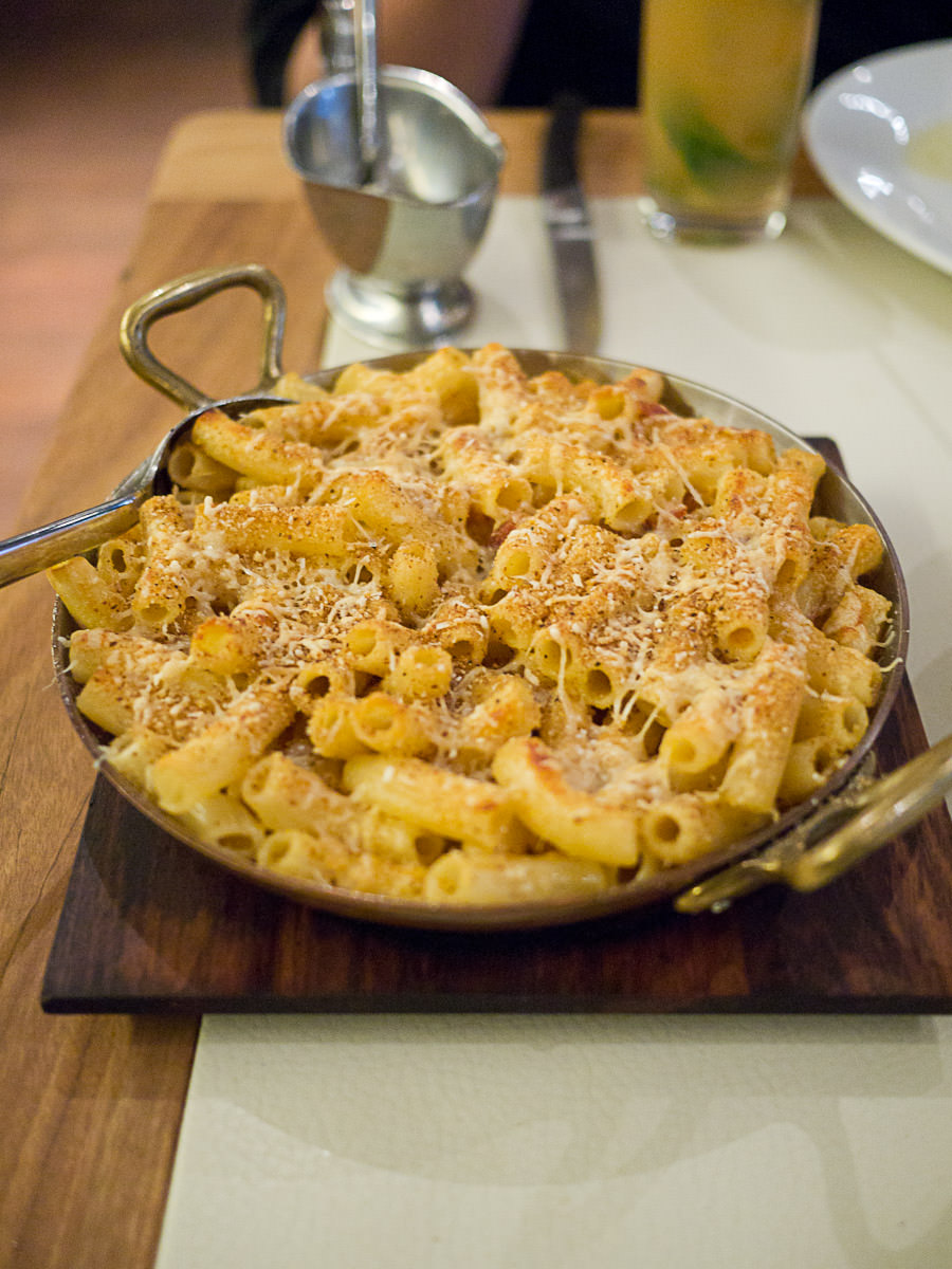 Mac and cheese (large, AU$11)