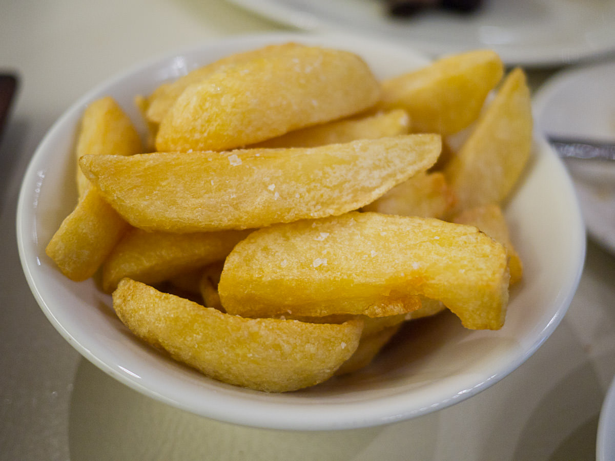 Hand cut fat chips (AU$12)