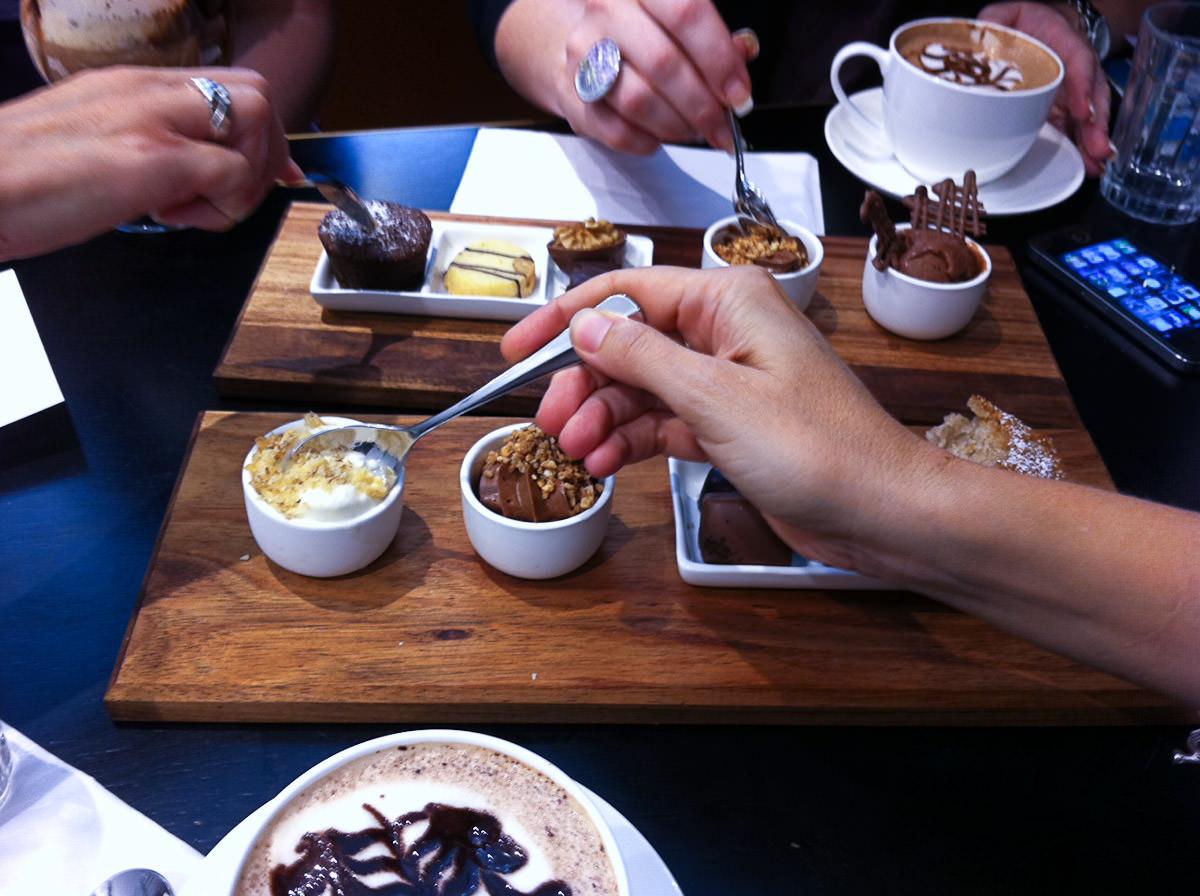 Chocolate feeding frenzy