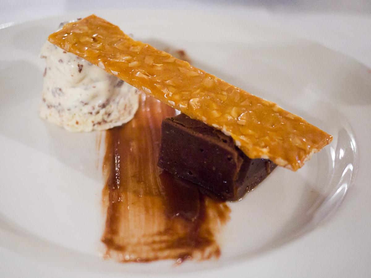 Chocolate brownie, cookies & cream parfait, peanut brittle (AU$12)
