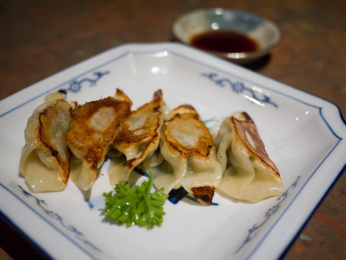 Chicken gyoza (AU$7.90 - also available in pork or kimchee)