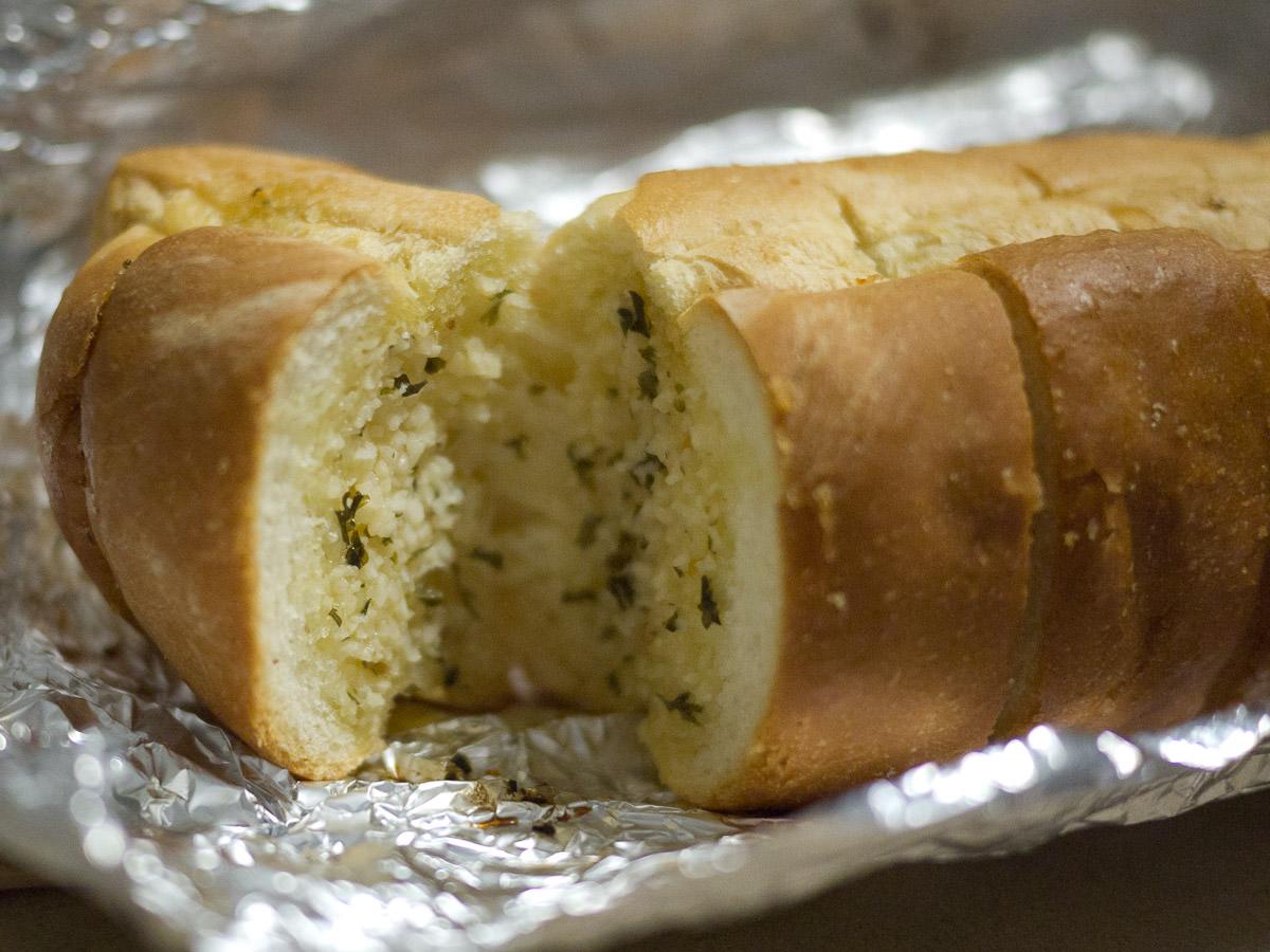 Garlic bread innards