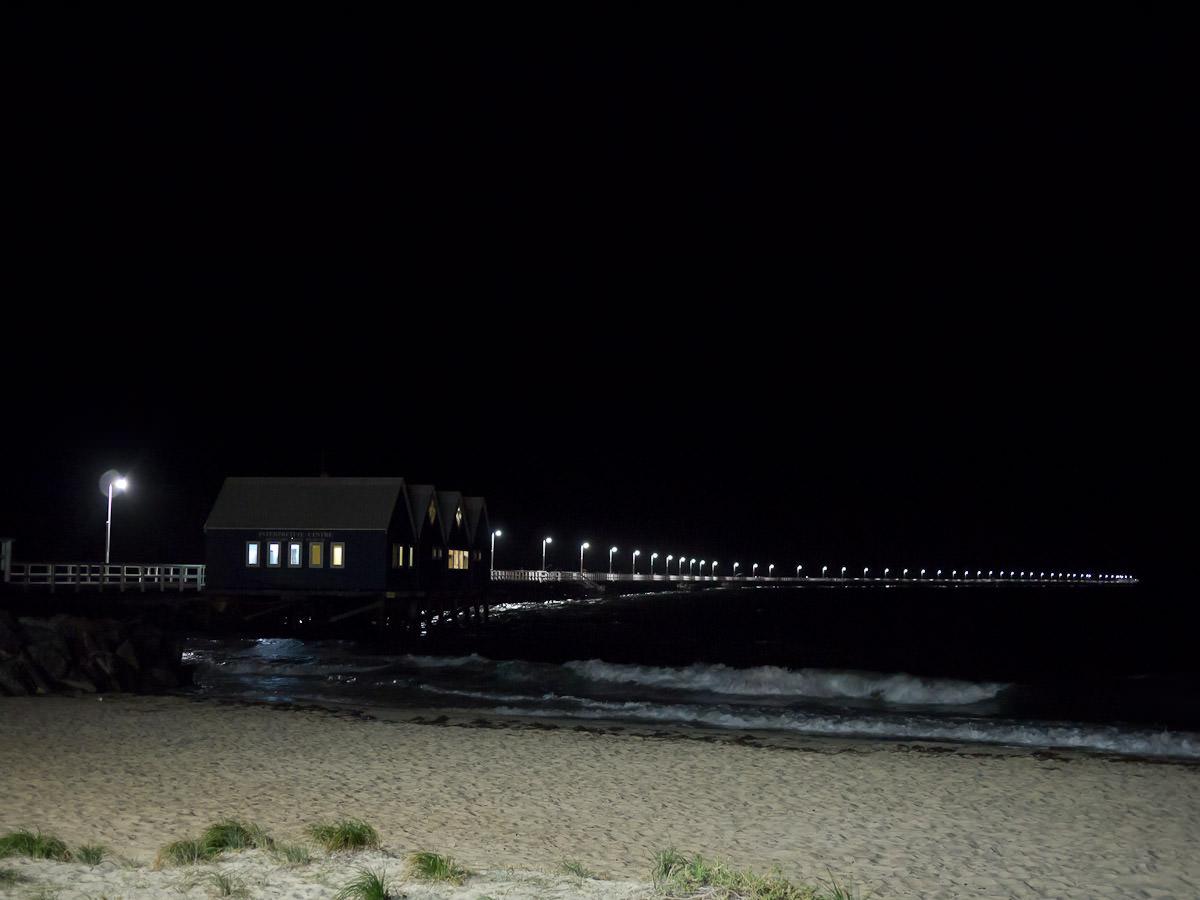 Busselton Jetty at night