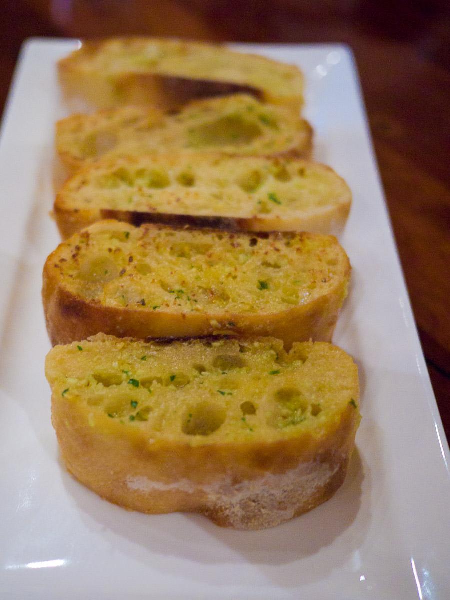 Grilled garlic and herb ciabatta (AU$9.50)