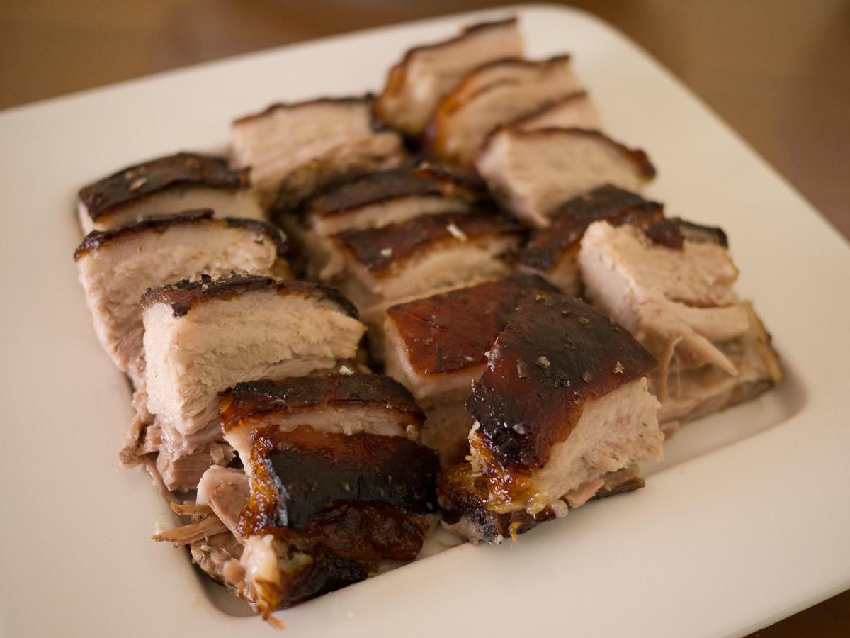 Slow-roasted pork