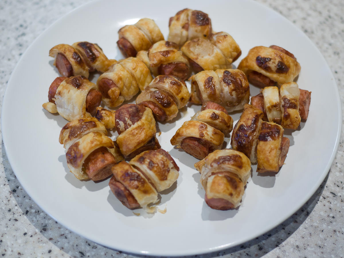 Airfryer pigs in blankets