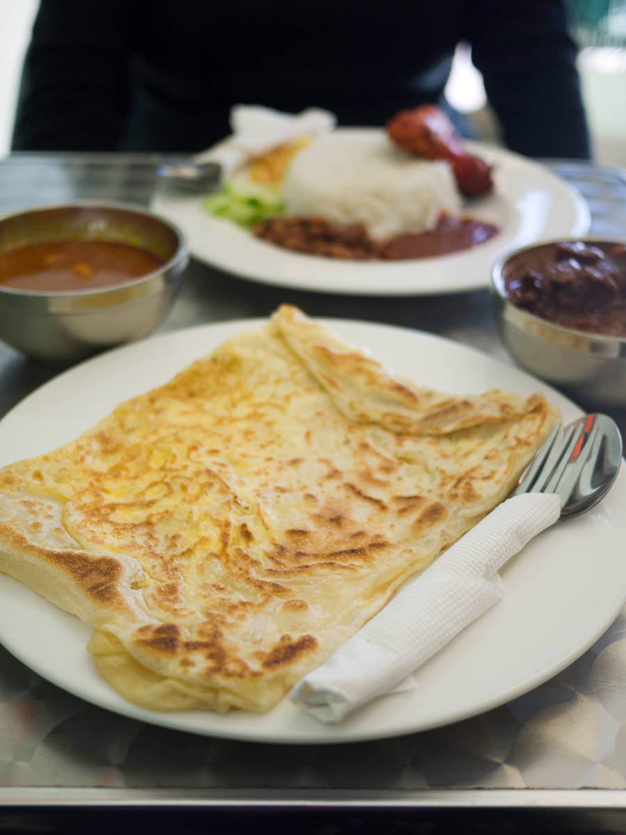 Egg prata with onion