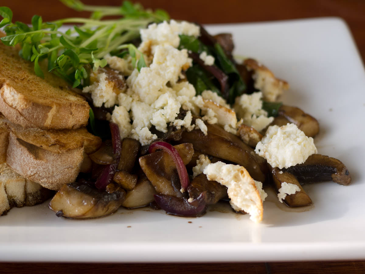 Balsamic mushrooms (AU$11.90)