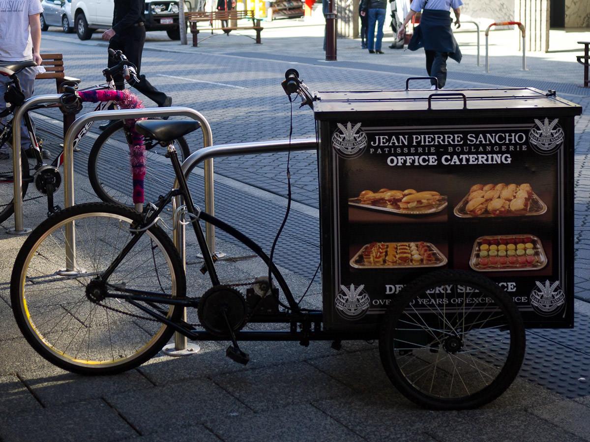 Jean Pierre Sancho delivery bicycle